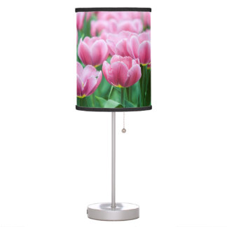 Pretty Pink Tulips Desk Lamp