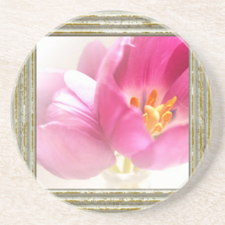 Pretty Pink Tulips Drink Coaster