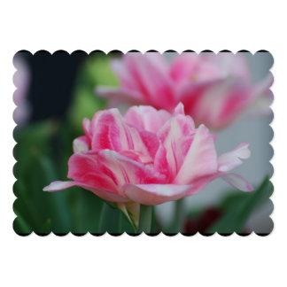 "Pretty Pink Tulips 5"" X 7"" Invitation Card"