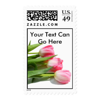 Pretty Pink Tulips Postage Stamp