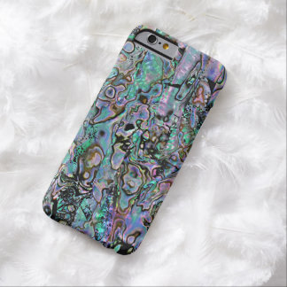 Pretty Pink Turquoise Faux Abalone Shell Pattern Barely There iPhone 6 Case