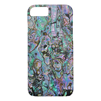 Pretty Pink Turquoise Faux Abalone Shell Pattern iPhone 7 Case