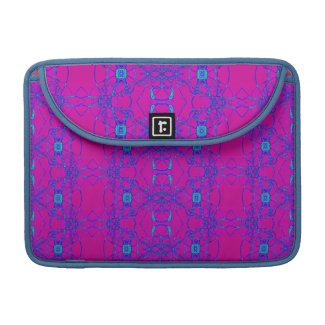pretty pink turquoise lace look pattern sleeves for macbooks