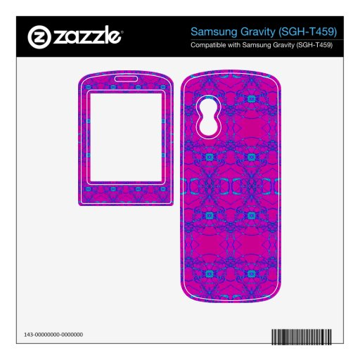 pretty pink turquoise lace look pattern samsung gravity decals