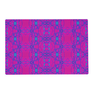 Pretty pink turquoise lace pattern placemat