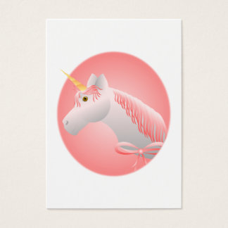 Pretty Pink Unicorn Business Card