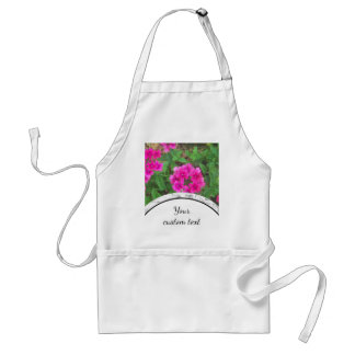 Pretty pink verbena flowers floral photo adult apron