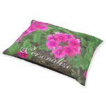 Pretty pink verbena flowers floral photo pet bed