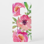 "Pretty Pink Watercolor Floral Case-Mate Samsung Galaxy S9 Case<br><div class=""desc"">Pretty and feminine,  this vibrant pink watercolor floral pattern features a trio of deep pink flowers with flowing branches that add a touch of green. It adds a trendy and fashionable look to your smart phone.</div>"