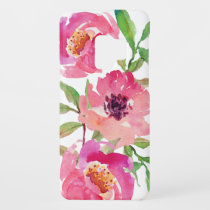 Pretty Pink Watercolor Floral Case-Mate Samsung Galaxy S9 Case