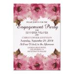 Pretty Pink Watercolor Flowers Pattern 3.5x5 Paper Invitation Card