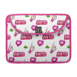 Pretty pink watercolor laptop bag. sleeves for MacBook pro