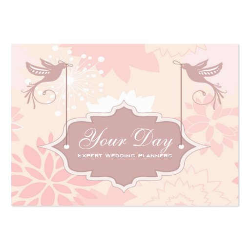 Pretty pink wedding planner business cards zazzle for Wedding planning business cards