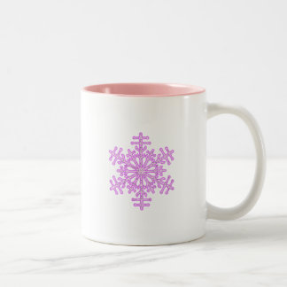 Pretty Pink Winter Christmas Snowflake Coffee Mugs