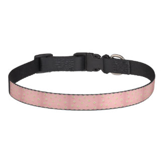 pretty pink with daisies medium dog collar