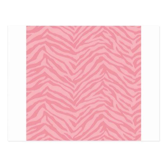 Pretty Pink Zebra Stripe Gifts Postcard