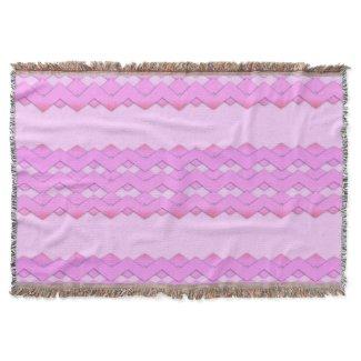 Pretty Pink Zigzag Design Throw