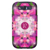 Pretty PinkGlow Monogram Samsung S3 Samsung Galaxy SIII Case