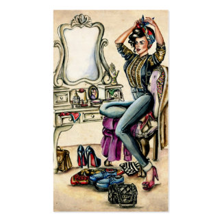 Pretty PinUp Beauty Double-Sided Standard Business Cards (Pack Of 100)