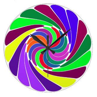 Pretty Pinwheel Wallclock