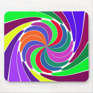 Pretty Pinwheel Mouse Pad