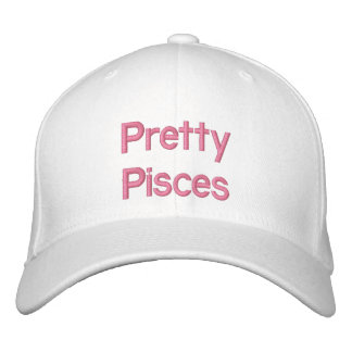 Pretty Pisces Embroidered Hats