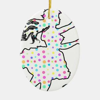 Pretty Pixie Ceramic Ornament