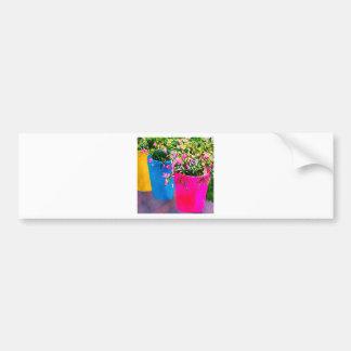 Pretty Plant Pots Bumper Sticker