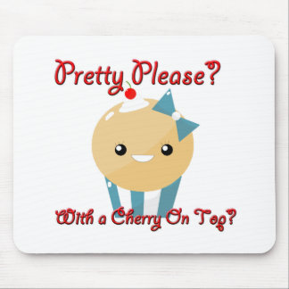 Pretty Please Cherry On Top Muffin Girl Mouse Pad