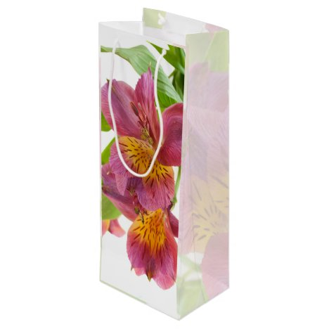 Pretty Plum Lily Wine Gift Bag