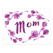Pretty Plum Mother's Day Postcard