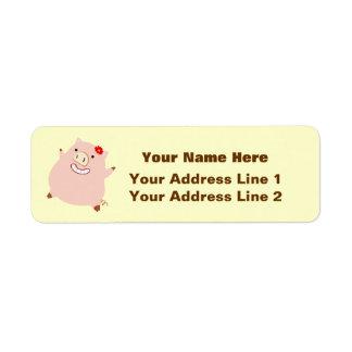 Pretty Plump Piggy Label