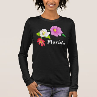 Pretty Plus Size Tee Shirts Exotic Flower Design