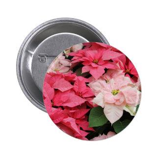 Pretty Poinsettias Holiday Button