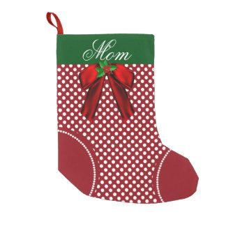 Polka Dots Christmas Stockings & Polka Dots Xmas Stocking Designs ...