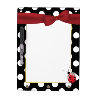 Pretty Polka Dot Dry Erase Board & Key Holder