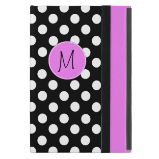 Pretty Polka Dot Monogram Mini iPad Case
