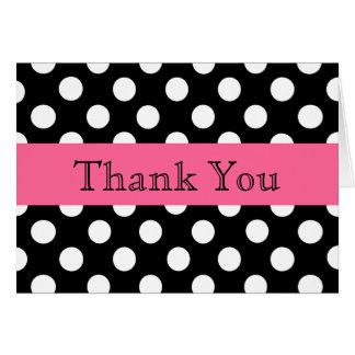 Pretty Polka Dot Thank You Note Card