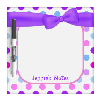 Pretty Polka Dots Dry Erase Board