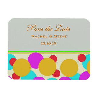 Pretty Polka Dots Save the Date Flexi Magnet