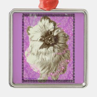 Pretty Pomeranian Christmas Ornament
