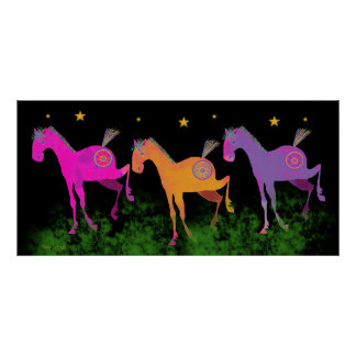 Pretty Ponies Under the Stars Poster