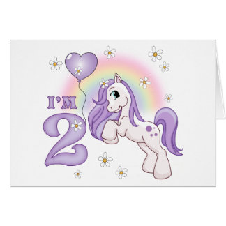 Pretty Pony 2nd Birthday Invitations Cards
