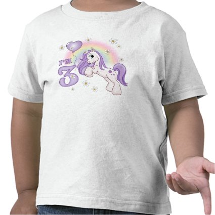 Pretty Pony 3rd Birthday Tee Shirts