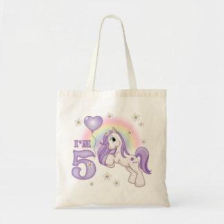 Pretty Pony 5th Birthday Budget Tote Bag