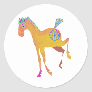 Pretty Pony Gifts  & Greetings Classic Round Sticker