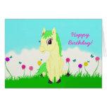 Pretty Pony Girl's Birthday Card
