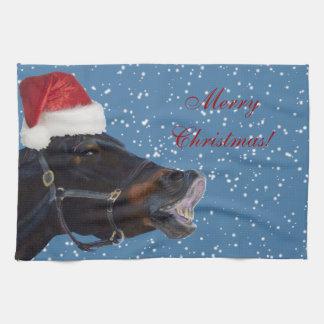 Pretty Pony Merry Christmas Kitchen Towels