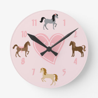 Pretty Pony Pink Wall Clock