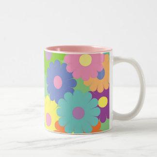 Pretty pop art floral design coffee mug